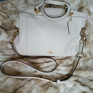 Coach Cream Leather Carry all Bag